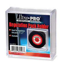 Ultra Pro Square Hockey Puck Holder Cube Case Stackable For Regulation Pucks