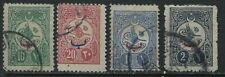 Turkey 1909 10 paras to 2 piastres used