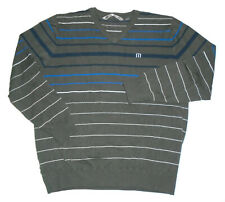 TRAVIS MATHEW Pullover GOLF Sweater GRAY Knit STRIPED Golfer Mens : LARGE Lg