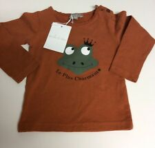 Emile Et Ida Frog Tee In Rust. Nwt Size 6 Months