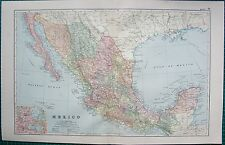 1901 LARGE VICTORIAN  MAP-MEXICO