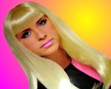 Halloween Blonde Costume Wig Long Hair
