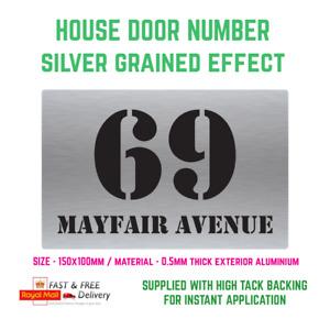 Personalised silver house street door aluminium outdoor sign