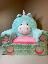 Animal Adventure | Sweet Seats | Teal Unicorn Children's Plush Chair w/ Defect