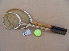 VINTAGE Wood Maxply Fort Tennis Badminton Racquet-ENGLAND-International Plays