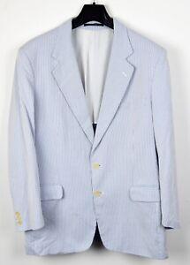 ZANOLINI Bespoke Hand Tailored 40 Cotton Blazer Suit Jacket Sport Coat White 50