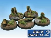 40mm Resin Scenic Bases (5) Round Forest Warhammer