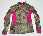 Realtree 1/4 Zip Lightweight Jacket Pink Size Small 34-36