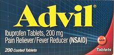 ADVIL 200 mg IBUPROFEN 200 COATED TABLETS PAIN RELIEVER EX 02/2019 +