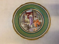 Antique Royal Vienna Beehive Mark Porcelain Plate w/ Three Women by Water Dec