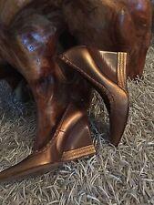 Keilabsatz Damen Halbschuh Wedges von Casadei   Gr.8 38/39 Top bronze