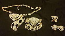 Jewelry, Set of fox neckless, bracelet, ring, earings.
