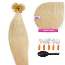Keratin Bonding Hair Extensions 100%25 Remy Echthaar Strähnen Haarverlängerung