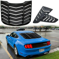 Black Rear Window Louver & Quarter Side Scoop Louvers for Ford Mustang 2015-2019