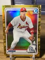 2020 Bowman Chrome Nolan Gorman Rookie Gold Refractor 37/50 Cardinals RC 🔥
