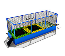 165 sqft Commercial Trampoline Park Dodgeball Climb Gym Inflatable We Finance
