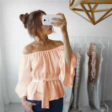 S Fashion Women Girl Summer Long Sleeve Shirt Loose Casual Blouse Tops T-Shirt