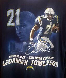 NFL Players Ladainian Tomlinson San Diego Chargers long sleeve shirt XL