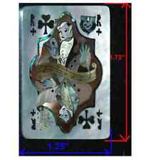 PH108# Joker Playing Card White, Bronze, Gold, Black Mother of Pearl & Abalone