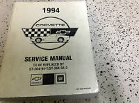 1994 Chevrolet Chevy Corvette Service Workshop Repair Shop Manual FACTORY OEM