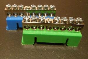 Din Rail 7 Way Terminal Block Mains 230-400v Busbar Earth Neutral MCB RCD Solar.