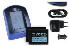 2 Batteries + Chargeur USB NP-W126 pour Fuji Fujifilm FinePix HS30EXR, HS33EXR