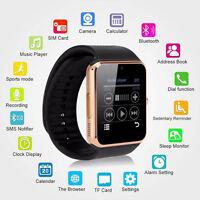 GT08 SmartWatch Armband Uhr für Android IOS Bluetooth Wireless SIM Kamera Gold
