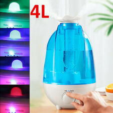 4L Portable LED Ultrasonic Humidifier Diffuser Mist Maker Air Purifier 40m² Room