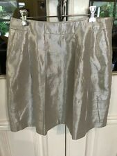 SABA-soft gold linen-blend skirt- stunning Size 8 -EUC- price reduced+free post