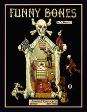 FUNNY BONES Goth skull Skeleton 8x10 vintage sheet music Art print