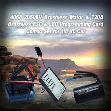 4068 2050KV Brushless Motor & 120A Brushless ESC & LED Programming Card L0B1