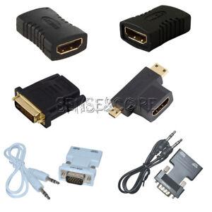 HDMI Female to Female/HDMI Male/VGA Male/ DVI Male Adapter Converter Connector