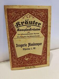 Kräuter und Komplexkräuter und das pflanzenchemische System. Rheine i.W.