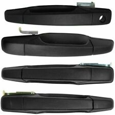 4PC Exterior Front & Rear Door Handles Set BLACK for 07-14 Tahoe Silverado Yukon