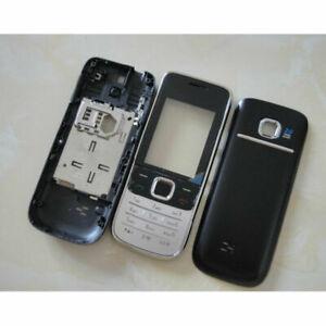 New for Nokia 2730 2730C Full Housing Body Cover Casing Keypad Keyboard Black