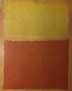"Mark Rothko-Red, Orange and Yellow poster 27.5"" x 21.5"""