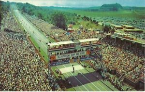 Air View Derby Downs Hill ALL AMERICAN SOAP BOX DERBY Akron OH Ohio Postcard PC
