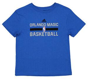 Adidas NBA Kids (4-7) Orlando Magic Practice Short Sleeve T-Shirt, Blue