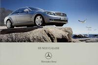 Mercedes CL 500 600 Prospekt 2006 6/06 Coupe brochure prospectus brosjyre Auto
