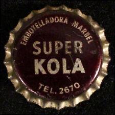 MARBEL SUPER KOLA COLA CORK SODA BOTTLE CAP CROWNS BARQUISIMETO, LARA, VENEZUELA