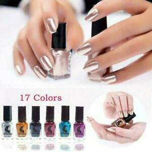 Metallic Nail Polish Mirror Effect Chrome Nail Varnish Polish Hot Art Y9I4