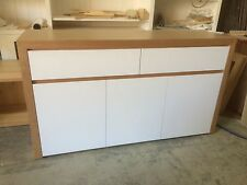 Local make tassie oak & high gloss Polyurethane buffet side board TH003