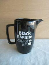 älterer Whiskey Wasserkrug Krug jug Black & White Scotch Whiskey Whisky Kanne