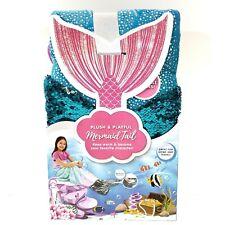 Jay Franco & Sons Plush & Playful Mermaid Tail Blanket Reversible Sequins Blue!