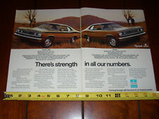 1972 PLYMOUTH DUSTER 340 DUSTER  318 225 198 - ORIGINAL 2 PAGE AD