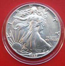 """Amerika: 1 Uz.-Oz """"Silver Eagle""""  1987 ST-BU,  #F 2041"""