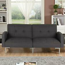 3 Seater Fabric Sofa Bed Sofabed Recliner Settee Couch Furniture Modern Design