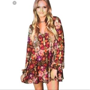 Show Me Your Mumu Donna Michelle Wild Jewels Printed Tunic / Mini Dress Size S