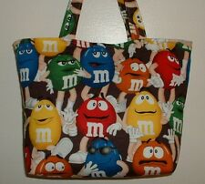 Handmade Purse Tote Bag made w/ M&M'S® Licensed Fabric
