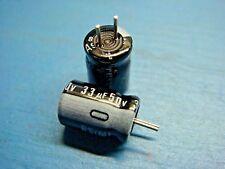 (50) NICHICON URS1H330MCA 33uF 50V 85°C RADIAL ALUMINUM CAPACITOR 6.3x9mm